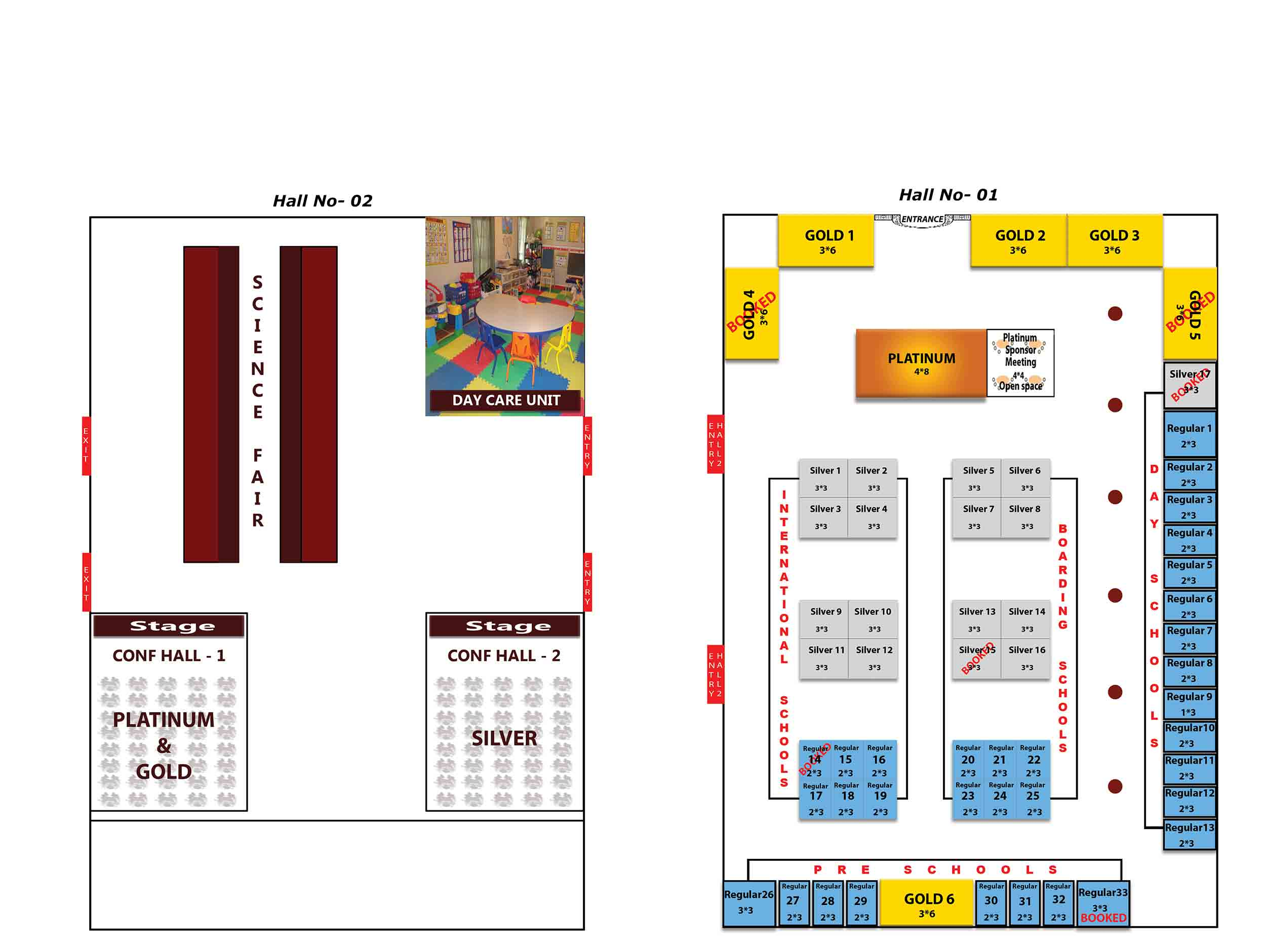 stall layout plan of next gen day school expo